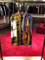 Модные Для мужчин рубашки 2018 взлетно посадочной полосы Элитный бренд Европейский дизайн вечерние стиль Мужская одежда A11169