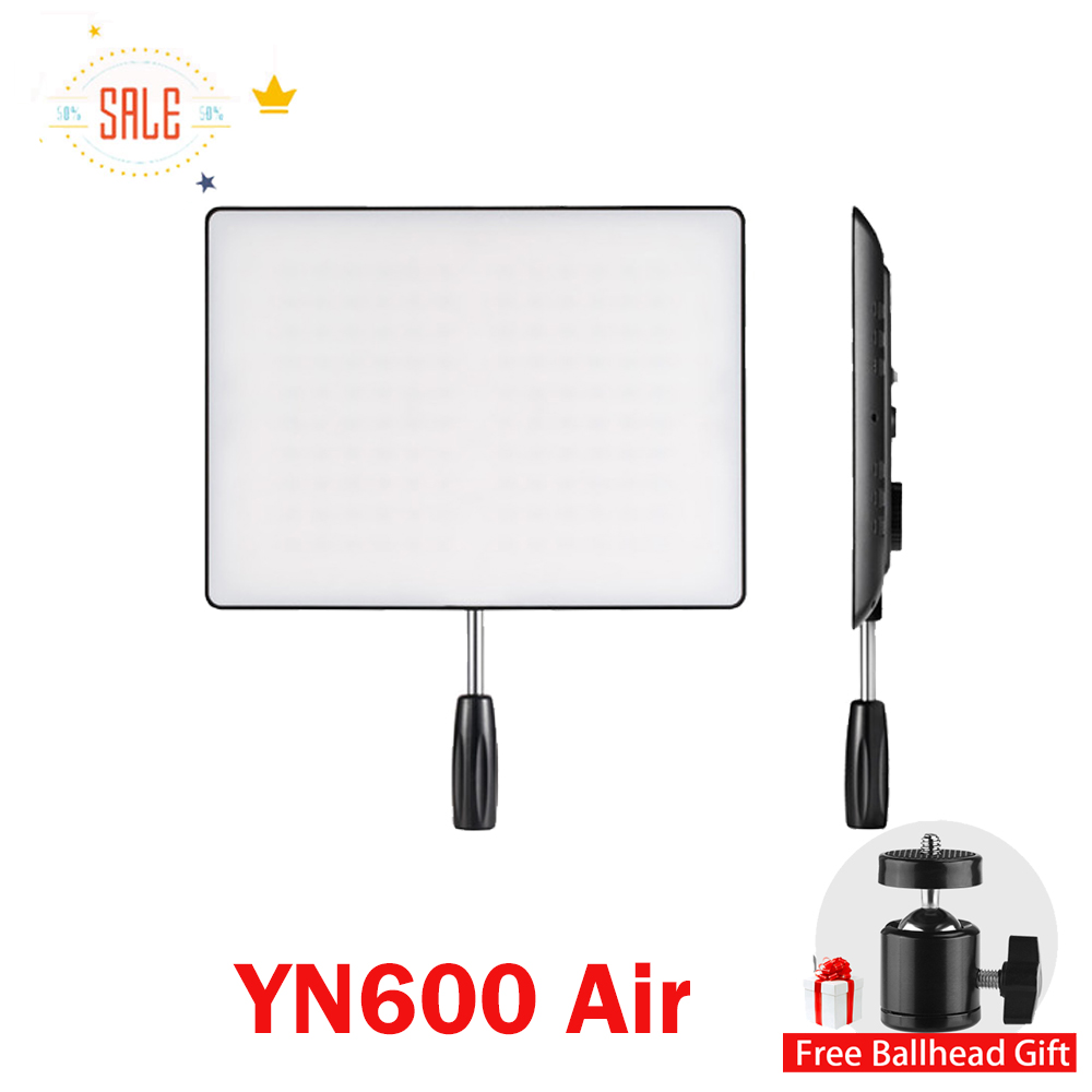 In Stock! NEW YONGNUO YN600 Air Led Video Light Panel 5500K and 3200K-5500K Bi-color Photography Studio Lighting