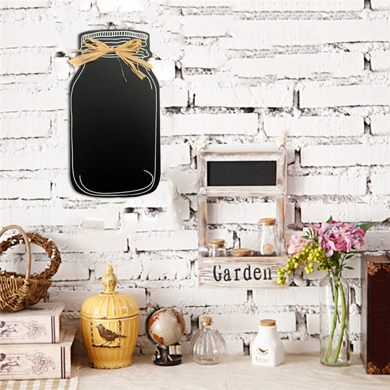 1pc 20x11cm Milk Cans Hanging Blackboard Signs Board Plate Wedding Wooden Chalkboard Atmosphere Ornaments Decorations For Home