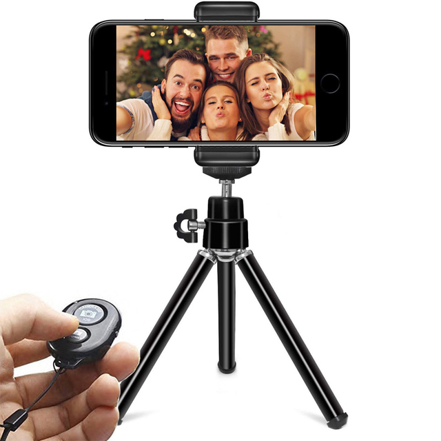 DUSZAKE P15 Extentable デスクトップミニ電話の三脚携帯電話の三脚 Iphone サムスン Xiaomi カメラミニ三脚電話