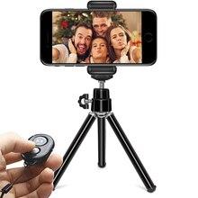 DUSZAKE P15 Extentable bureau Mini téléphone trépied pour téléphone portable trépied pour iPhone Samsung Xiaomi caméra Mini trépieds pour téléphone