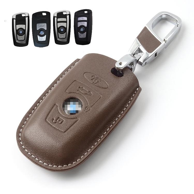Key Wallet Car Key Fodral för BMW Series 1 2 3 5 7 Original Cow - Plånböcker - Foto 4