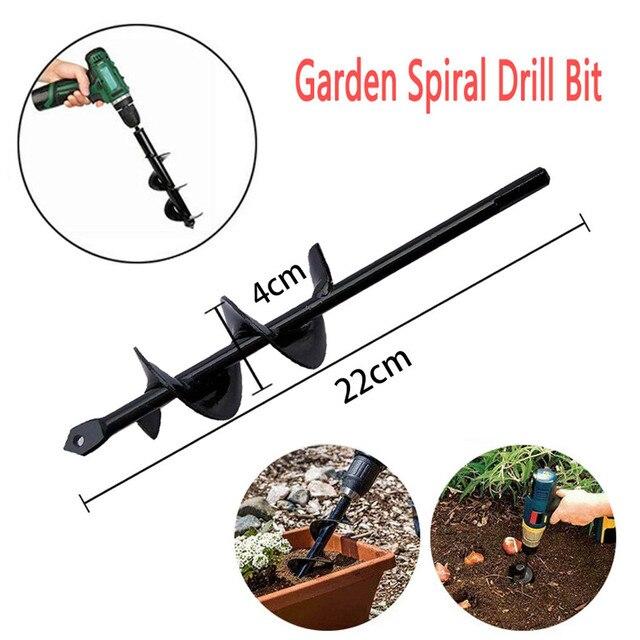 "3/8"" Planter Garden Auger Spiral Drill Bit Planting Hole Digger Drill Bit Yard Gardening Bedding Planting Hole Digger Tool"