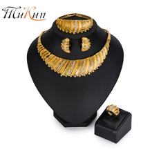 MUKUN Fashion dubai gold Color jewelry set Wholesale Brand 2018 Nigerian bridal wedding Jewelry set Women costume necklace set цена 2017