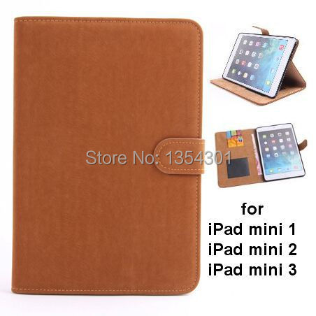 Soft Feel PU Leather Wallet With Stand Case For Ipad Mini 1/ 2 Retina / 3 Phone Bag Cover With Card Holder Brand New