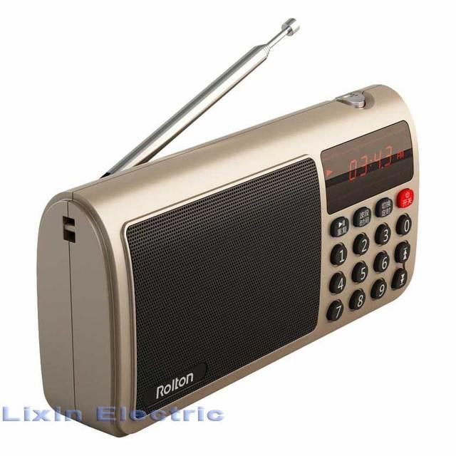 Rolton t50 portátil mundial banda fm/mw/sw radio speaker saída de fone de ouvido estéreo mp3 music player cartão sd/o cartão do tf para pc ipod telefone
