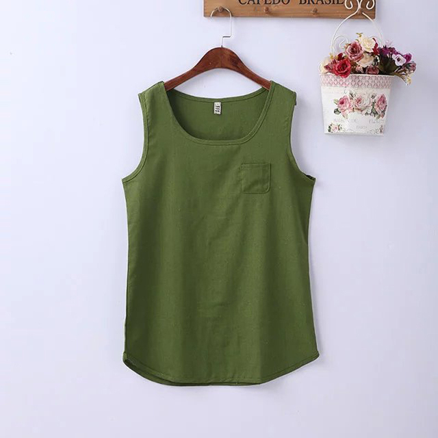 Summer Tops Tees Tanks Undershirt Women Cami Sleeveless Linen Shirts Tank Tops Vest Camisole Female Plus Size Clothing XXL XXXL