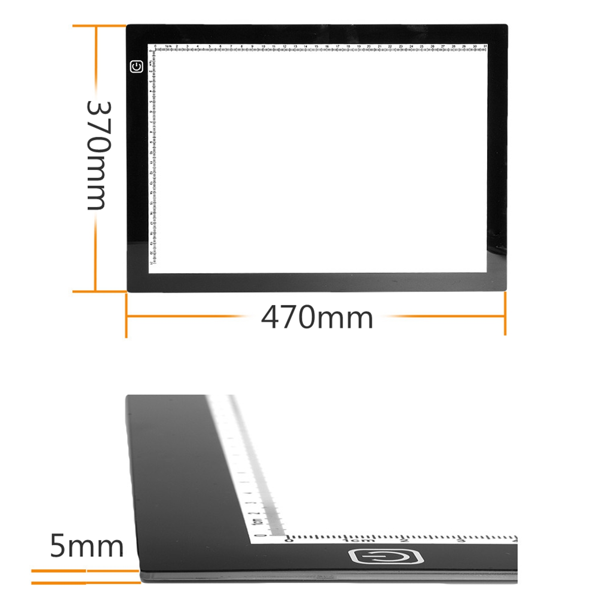 Ultra Thin A3 LED Tracing Board Drawing Writing Painting Light Box Art Craft Paint Pad Tracing Board Copy Pads Drawing Tablet amzdeal a4 led writing painting light box tracing board copy pads drawing tablet artcraft a4 copy table led board