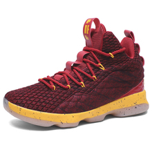 d4ec09b42222 Plus Size 36-45 Outdoor Basketball Shoes Men Pu Leather High-top Sports Air
