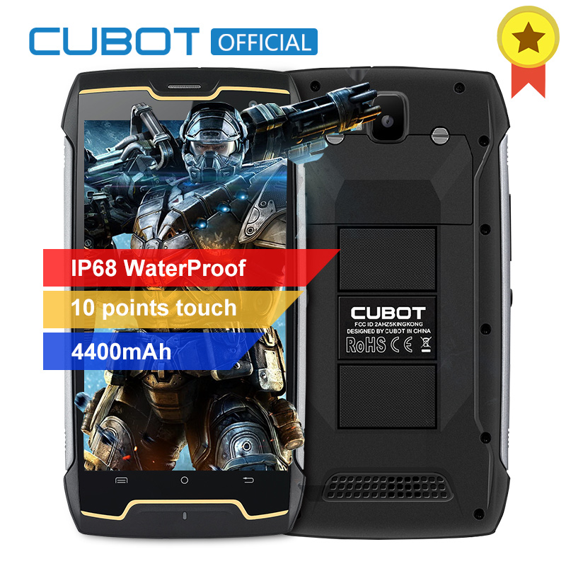 Original Cubot KingKong IP68 Wasserdichte Smartphone Staubdicht Stoßfest Cellular MT6580 Quad Core 5,0 Zoll HD 2 GB 16 GB 4400 mAh