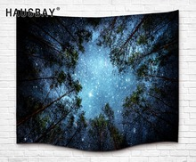Beautiful Night Sky Wall Tapestry Home Decorations Wall Hanging Forest Starry Night Tapestries For Living Room Bedroom Beach Mat