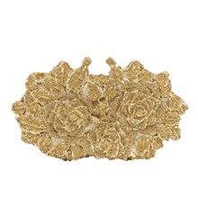 65dd885b0b38 Для женщин Вечерние сумки женские вечерние Клатчи кошельки Модные женские Свадебные  клатч золото/желтый/