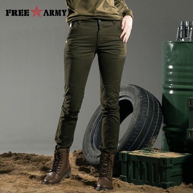 Ücretsiz ordu 2015 marka yeni moda avrupa tarzı kadın pantolon artı boyutu Metal perçinler ayak pantolon tayt Pantalones GK-9385A