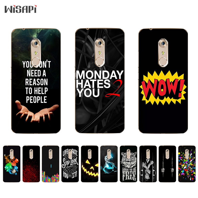 US $1 24 43% OFF For ZTE Nubia Z17 Mini TPU Phone Case for Axon 7 / 7 Mini  Cover Ultra Thin for Nubia Z9 MAX Silicone Shell Black Letters Pattern-in