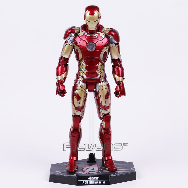 ФОТО Hot Toys Avengers Age of Ultron Iron Man Mark MK 43 with LED Light PVC Action Figure Collectible Model Toy