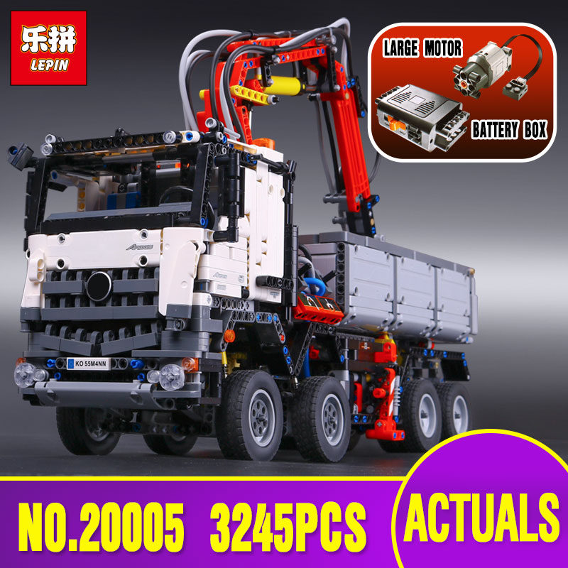3245pcs NEW LEPIN 20005 technic series Arocs Model Building blocks Bricks Compatible with Toy for Children 42043 lepin 20005 2793pcs technic series model building block bricks compatible with boys toy gift compatible legoed 42023