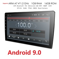 2 Din 10.1'' QuadCore Universal Android 9.0 1GB RAM Car Radio Stereo GPS Navigation WiFi 1024*600 Touch Screen 2din Car PC 4G BT
