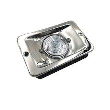 לבן LED ים סירת יאכטה ניווט אור כיכר נירוסטה אות מנורת עמיד למים DC 12 v