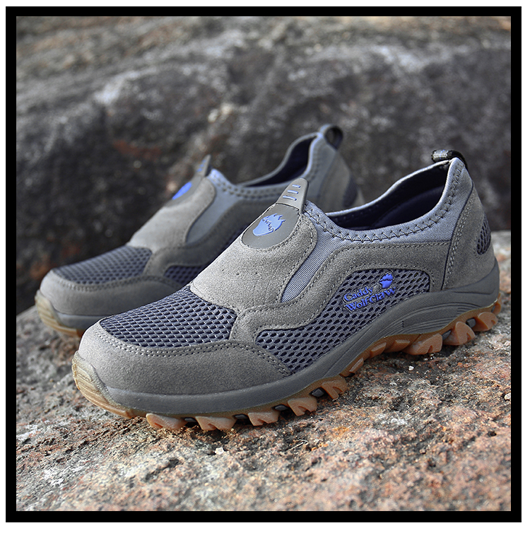 Comfortable Mens Walking Shoes Summer Breathable Slip On Sport Sneakers Beach Water Shoes Outdoor Men Athletic Sneakers 7
