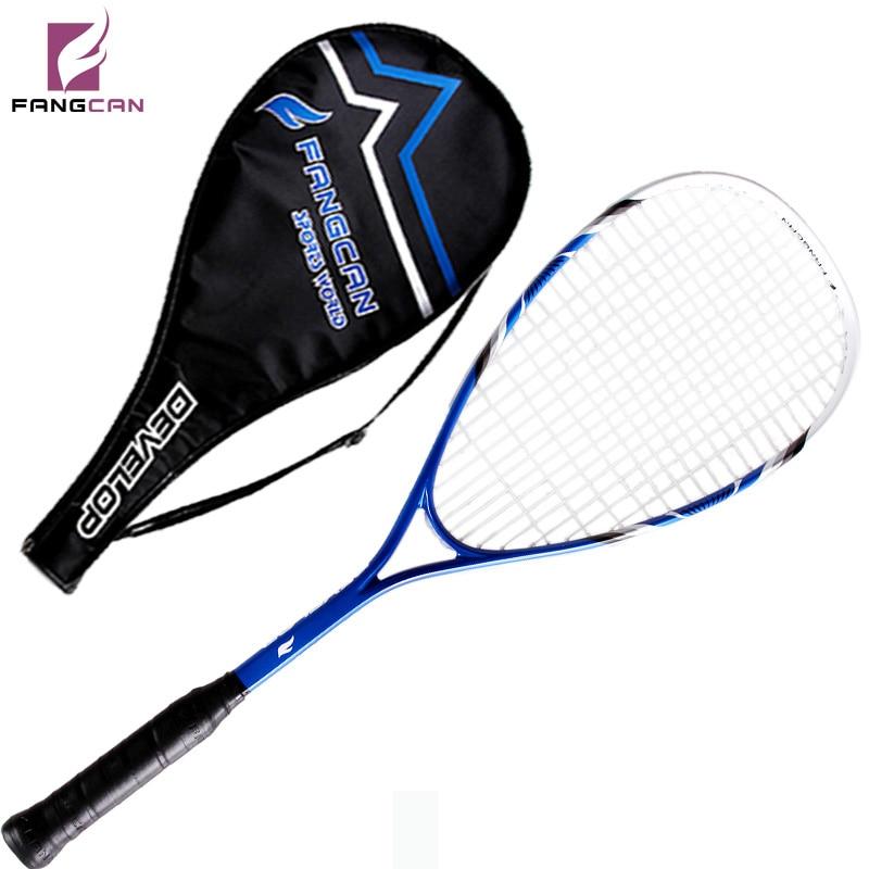1 pc FANGCAN FCSQ-01 Aluminium Carbone Composite Alliage Squash Raquette pour Primaire Joueurs avec de la Ficelle avec 3/4 Couverture