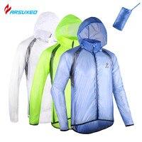 Arsuxeo עמיד למים windproof חבילה של בריכת ספורט רכיבה על אופניים אופני אופניים ריצה גברים מעיל גשם מעיל רוח jacket clothing