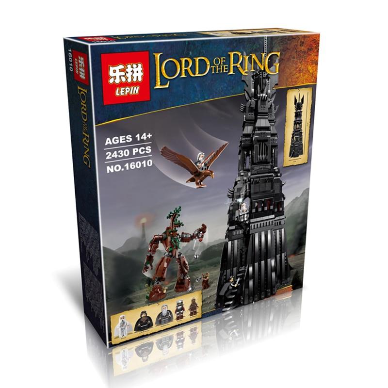 LEPIN 16010 2430 Stücke Herr der Ringe Der Turm von Orthanc Modellbau...