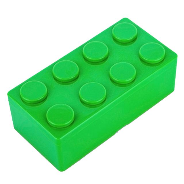 Best 1pc Building Block Shapes Saving Space Storage Box Superimposed Desktop Handy Office House Keeping Stationery (green)L