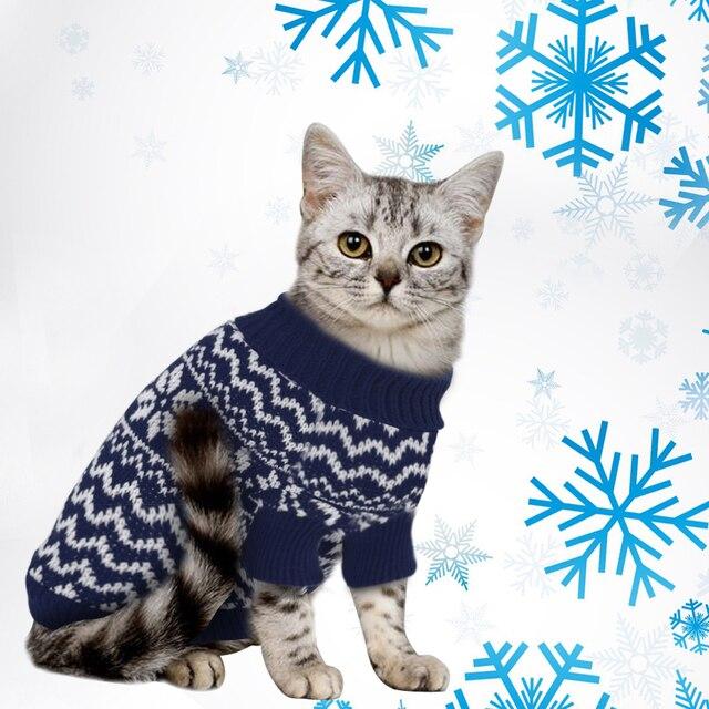 Invierno Caliente perro gato suéter perros mascotas ropa suave ...