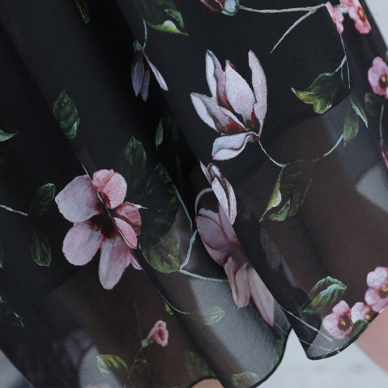 Robe Slim Robes Long Lwl1508 Élégantes Midi Impression Summer Parti As 2019 Verano Picture Soie Femmes Réel Tcyeek Floral qnEHgg
