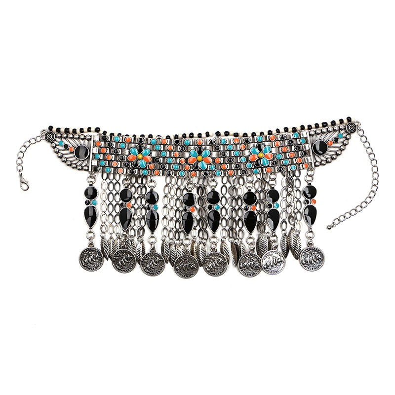 2ef3627248fd Nuevo en Vintage Bohemia gargantilla collar único borla chunky mujeres  colgante collar declaración jujia joyas al por mayor