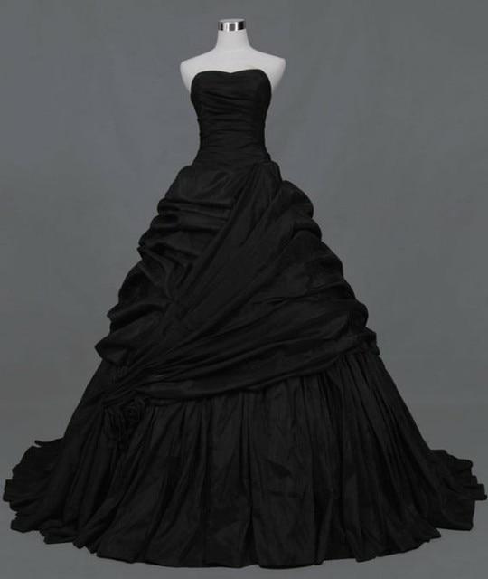 Sweetheart pleated side draped chapel train taffeta ball for Side draped wedding dress