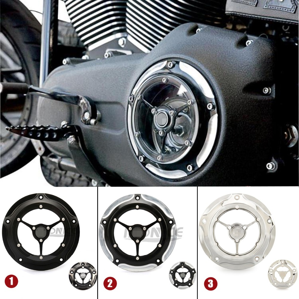 Zie Hoewel Derby Cover Voor Harley Softail Timing Cover Street Glide Electra Glide Road King Dyna Derby Cover Transparante Covers