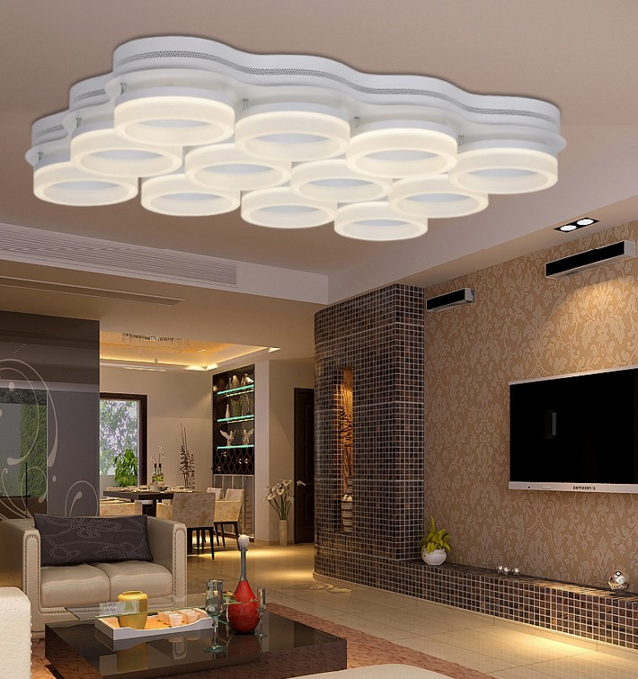 ФОТО Modern Led Lamp Ceiling Lights Surface Mounted Lighting Fixture for home bedroom living room