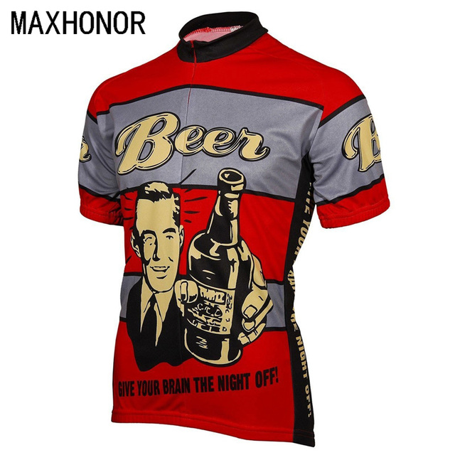 dbcfffaa0 Beer cycling jersey men cycling tops summer bike clothing short-sleeve ropa  de ciclismo can Customized red funny jersey