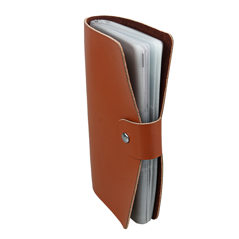 Genuine Leather Unisex Business Card Holder Wallet Male Portable Bank Credit Card Case ID Holders cardholder Wallets porte carte