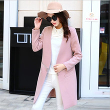 2016 Spring Autumn Coat Jackets Women Fashion New Temperament Woolen Cloth Coat  Long Sleeve Cloth Coat Cultivate One's Morality