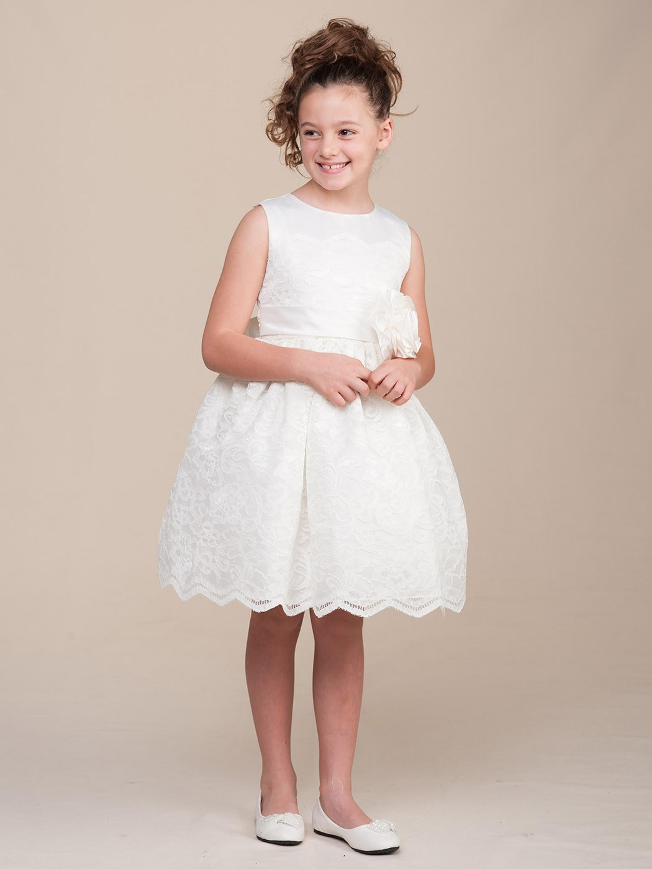 Short Flower Girls Dresses For Wedding Gowns Knee-Length Kids Prom Dresses Lace Dress Girl Tulle Mother Daughter Dresses short flower girls dresses for wedding gowns knee length kids prom dresses lace dress girl tulle mother daughter dresses
