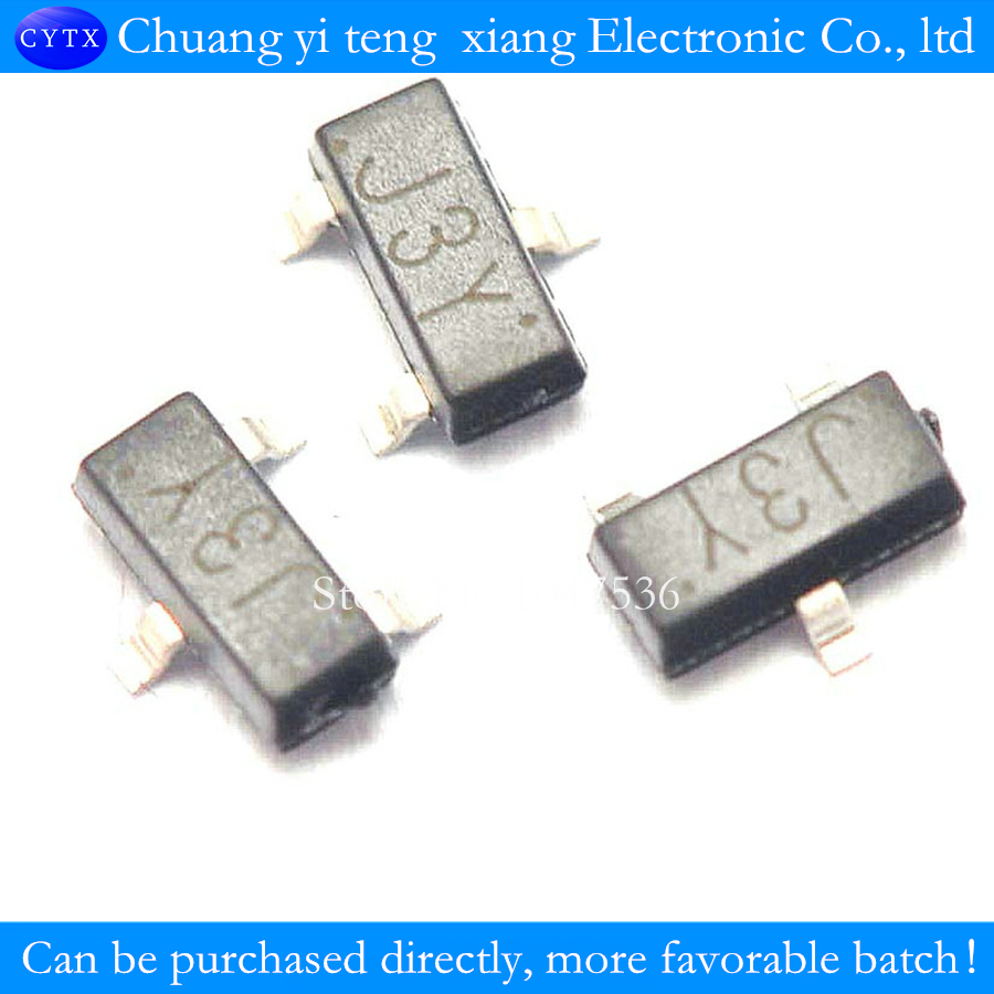 Транзистор SMD triode S8050 J3Y 0,5 A / 25VNPN SOT23 (100 шт./лот)
