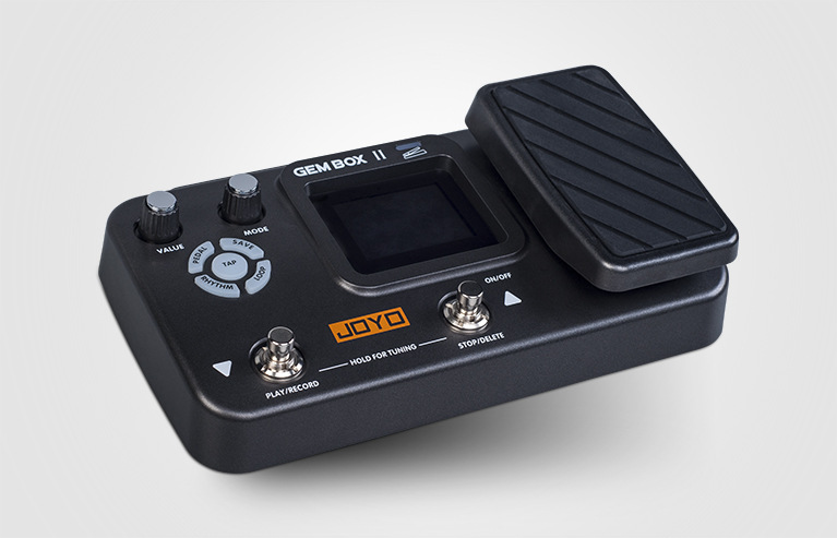 JOYO GEM boîte avec pédales tambour machine multi-fonction intégré guitare électrique effets 60 types d'effets 40 battements de tambour