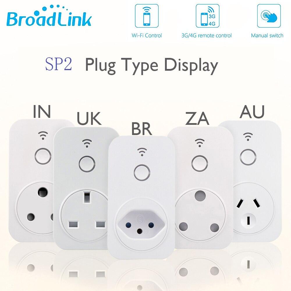 Broadlink Smart Home Original WiFi Smart Socket SP2 ZA IN BR UK AU EU Plug Work with Alexa Google Home APP Remote Control