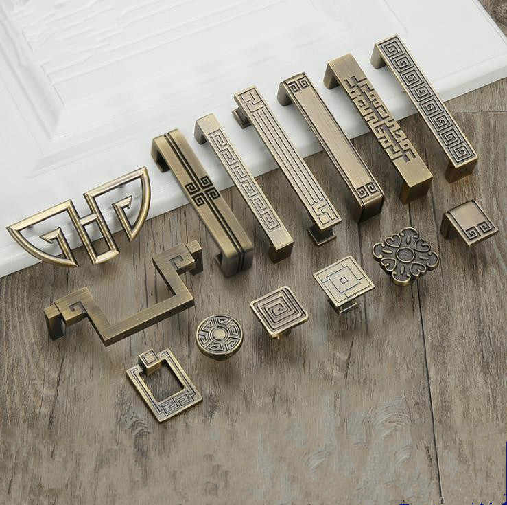 FAST SHIPPING  Antique Brass Hardware Collections European Style Garden Cabinet handle Cabinet Knob Door Pull Drawer Hardware