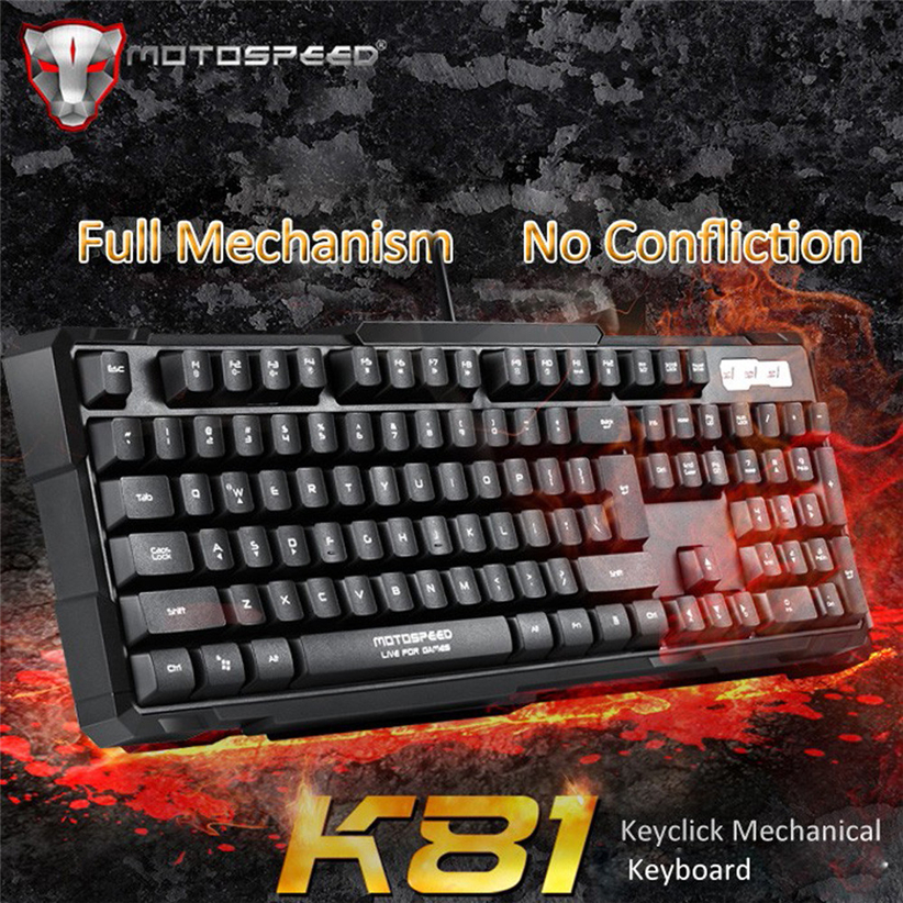 Motospeed K81 Mechanical Gaming Keyboard Multimedia Shortcut Keys for Home Office School Futural Digital Drop Shipping AUGG14 programmable rs232 usb yd511ds 15 keys digital keyboard pin pad password keyboard with lcd for epos access system