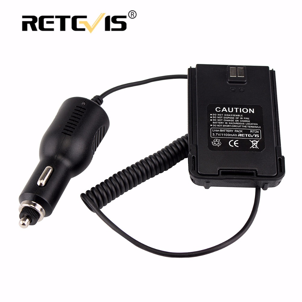 100% New Car/Vehicle Charger Battery Eliminator 12V-24V For Retevis RT24 Two Way Radio PMR Rradio Accessories J9123J