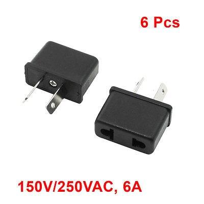6 Pcs AU to EU/US Socket Insulation Housing Travel Plug Adapter AC 125V/250V 6A kpt 18 us socket to au plug ac power adapter plugs black 10 pcs 2 5 250v