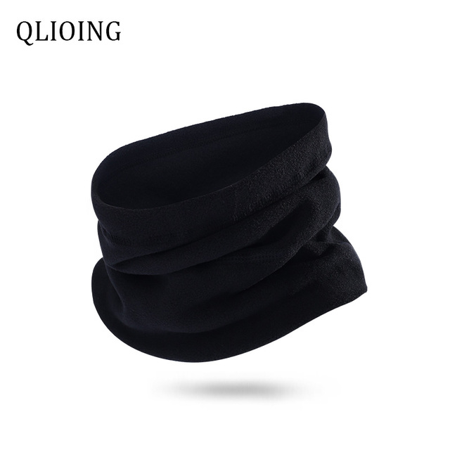 QLIOING Neck Warmer Gaiter Winter Motorcycle Caps Beanie Hiking Double-Layer Polar Fleece Ski Mask Cycling Balaclava Windproof