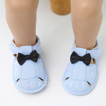 Baby Boys Hollow Out Shoes Bowknot Fashion Toddler First Walkers Kid Shoes Baby Summer 0-1-3 Year Anti-slip Soft Bottom Shoes
