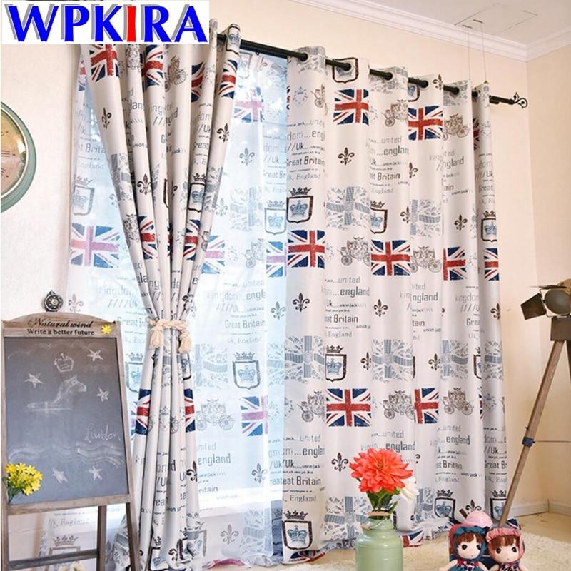 Gyerekfüggöny Nappali hálószoba Designer Függönyszövet UK Flag - Lakástextil
