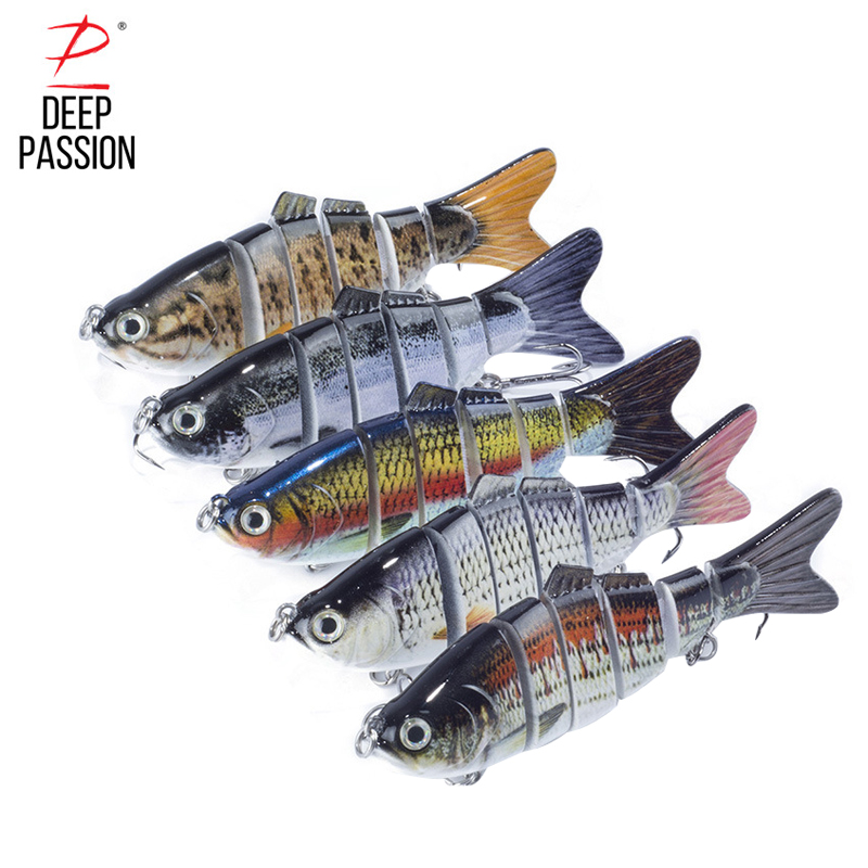 Multi Jointed 3D Eyes Lure 6 segment Integrated Bait Fishing Hard Baits Fishing Gear Lures Peche Fishing Lure Artificial Bait