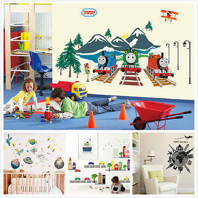 Removable PVC Decals Thomas The Tank Engine Fluorescent Sticker Thomas And  Friends Wall Sticker For Kids