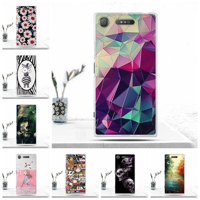 low priced 5bca1 2e4e2 US $0.99 10% OFF|Phone Case For Sony Xperia XZ1 Cover Soft TPU Silicon Back  Cover for Sony Xperia XZ1 Case Phone Covers for Sony XZ1 Fundas Coque-in ...